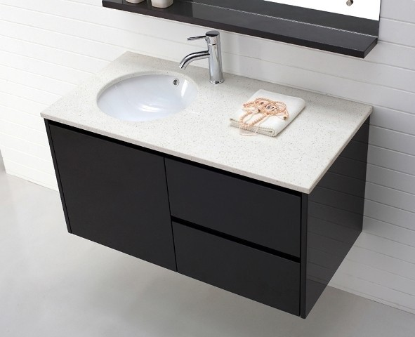 Luxor 1000 Wall Hung Vanity In Espresso Modern Bathroom Vanities And Sink Consoles