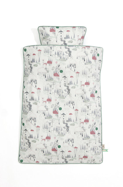 Kids In The Rain Bedding, Junior contemporary-kids-bedding