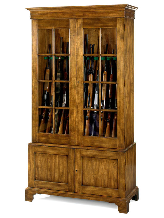 The No. 1200 Gun Cabinet. Shown in Cherry. Made to order & customizable. Choice -
