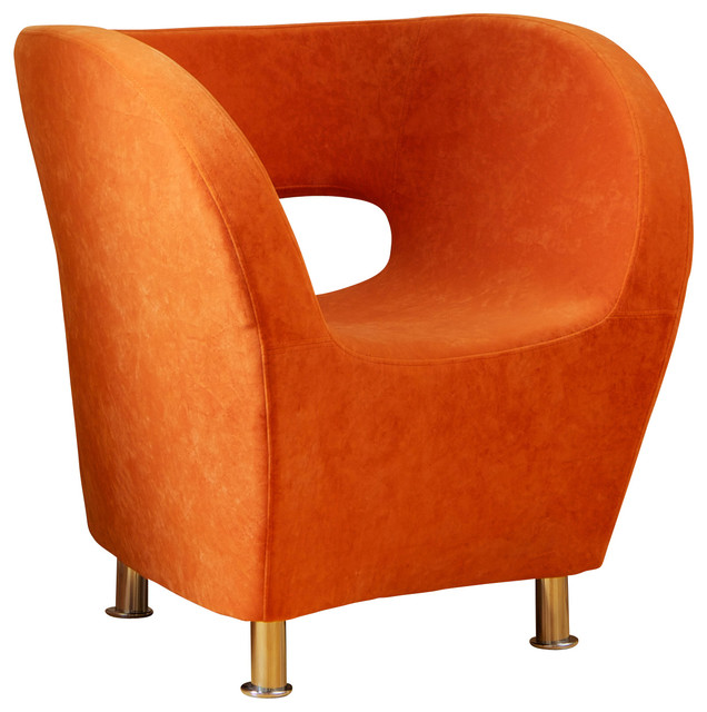 Salazar Modern Design Accent Chair Orange Contemporary Armchairs And Acc