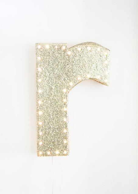 Glitter Marquee Letter LED Night Light by Whirlwind by RAB contemporary children lighting