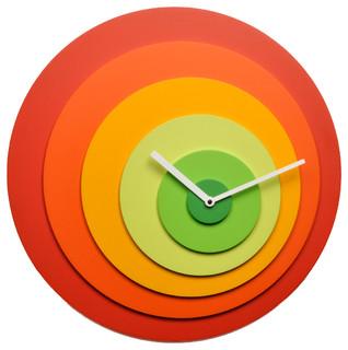 Target Red/Green Wall Clock - Contemporary - Wall Clocks - by Modo Bath