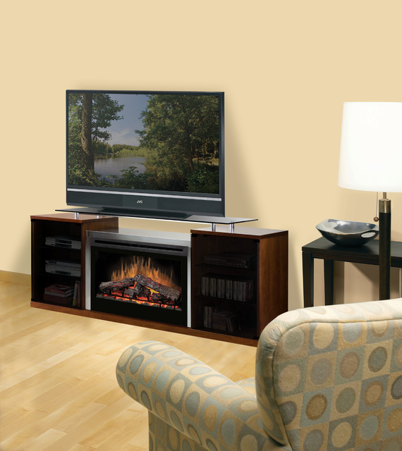Marana Cherry Electric Fireplace Entertainment Center With