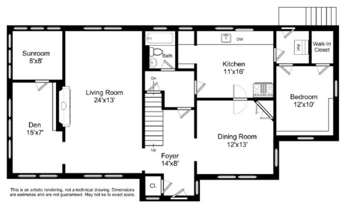 Need help redesigning floor plan including kitchen for House plans with eat in kitchen
