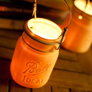 Translucent Ball Mason Jar Votive Lantern modern candles and candle holders