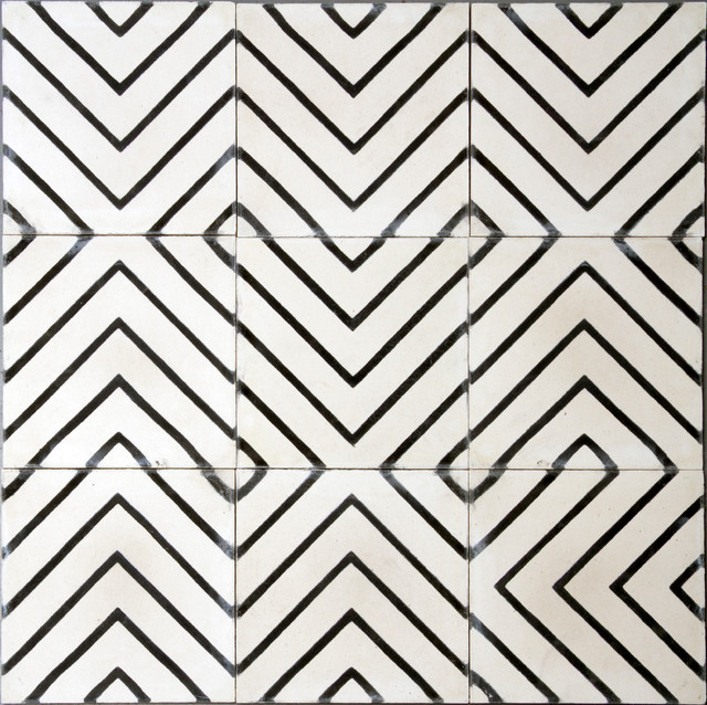 Goose Eye Tile Milk Kohl Contemporary Wall And Floor Tile Other