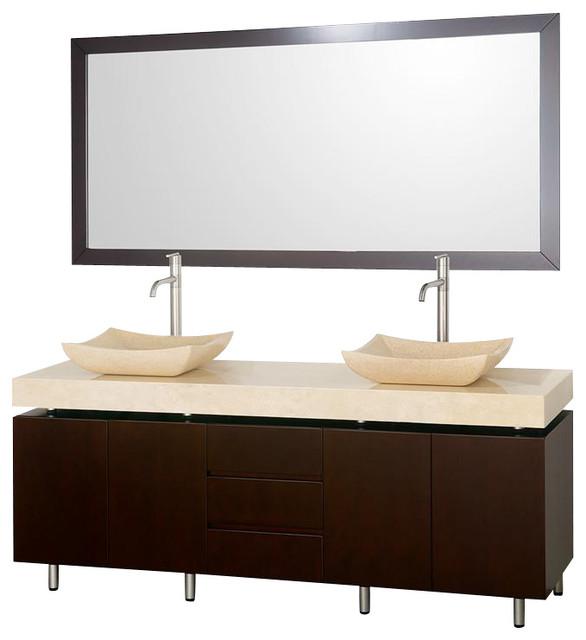 Wyndham Malibu Vanity Espresso modern-bathroom-vanities-and-sink-consoles