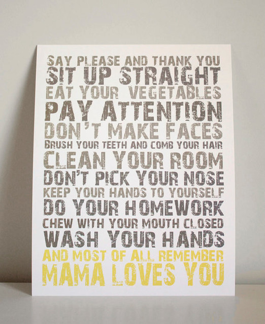 Mama Loves You by Gus & Lula contemporary-kids-decor