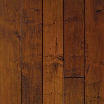 Solid Hardwood: HandScraped Maple Spice 3/4 in. H x 5 in. W x Random L Solid Har contemporary-hardwood-flooring
