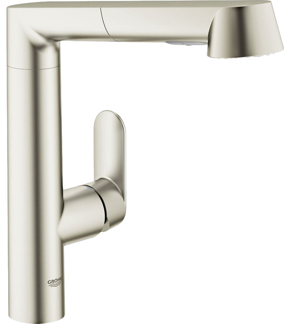 grohe 32178dce supersteel infinity k7 one handle pullout