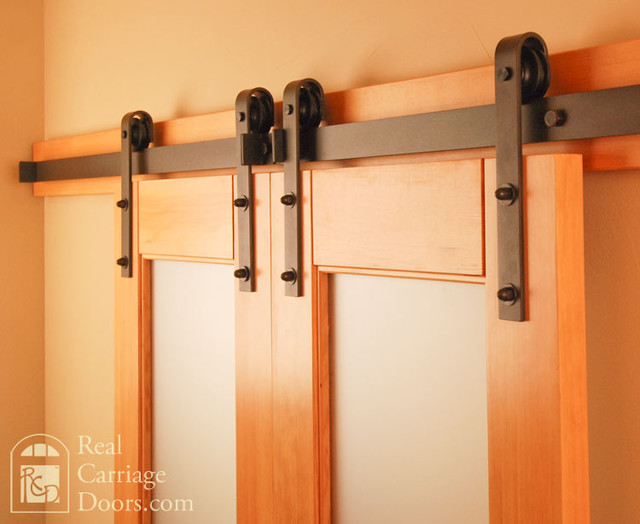 Classic Flat Track Barn Door Hardware Traditional