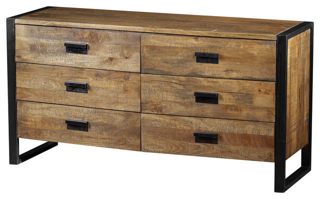 Delia Dresser Made of Mango Wood - Industrial - Dressers - by Artemano