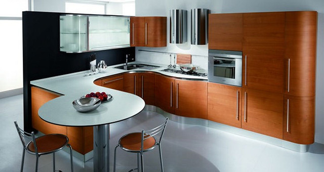 Butterfly Natural Wood Kitchen Cabinets by Fiamberti ...