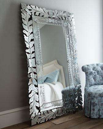 Venetian Floor Mirror traditional-mirrors