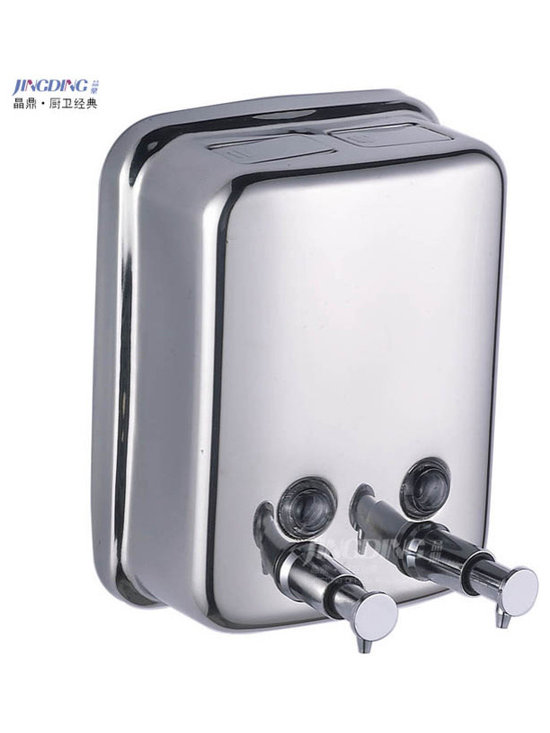 Wall Mounted Two Chamber Soap Dispenser - Features:
