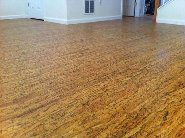 Cork floor contemporary hardwood flooring denver for Hardwood floors denver