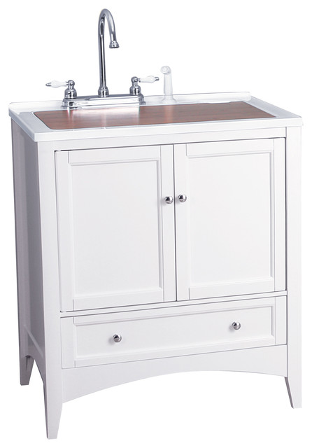 ... White Laundry Vanity transitional-bathroom-vanities-and-sink-consoles