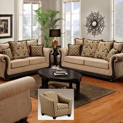 Modern Living Room Sets on Home Lily Delray Taupe Sofa Set   Modern   Sofas   By Hayneedle