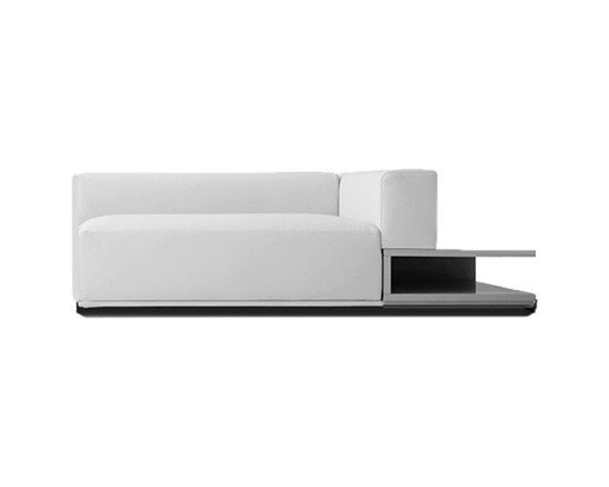 Pianca - Pianca | Insieme End Sectional Sofa with Storage Unit - Design by R&S Pianca. Made in Italy by Pianca. Sit yourself down on the Insieme End Sectional Sofa. The sectional offers a design that's comfortable, convenient, and stylish with a plush seat, an attached storage unit that can double as an end table, and a configuration that's purely shape and color driven with its irregular lines and asymmetry. Enhance your home with a unique look that stands apart.  Product Features: