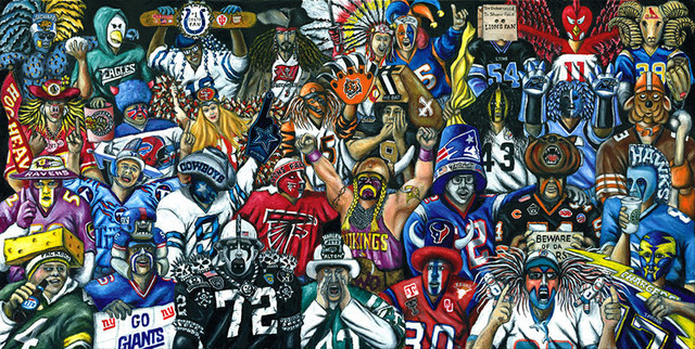 True Believers - NFL Football Fan Art - Contemporary - Game Room Wall Art And Signs - by Thomas ...