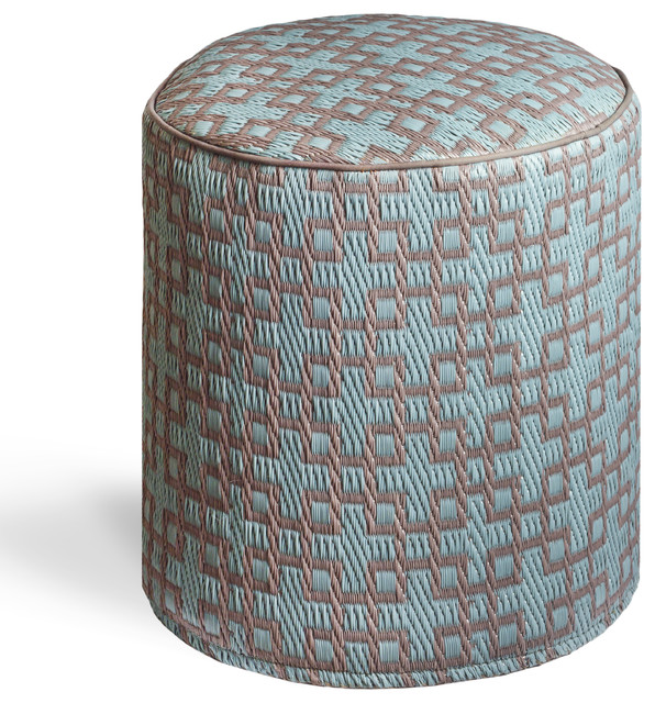 rheinsberg powder blue warm taupe pouf contemporary ottomans and cubes by fab habitat. Black Bedroom Furniture Sets. Home Design Ideas