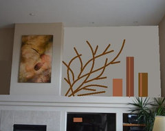 Arrangement with Branches contemporary-interior-elevation