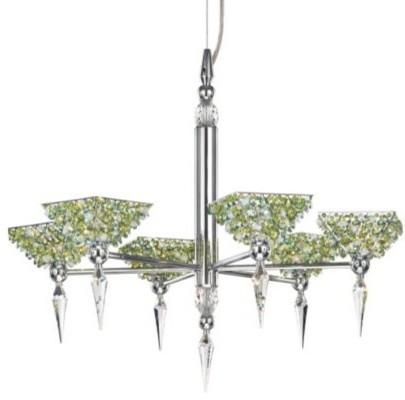 Vertex Pyramid Chandelier by Schonbek Lighting chandeliers