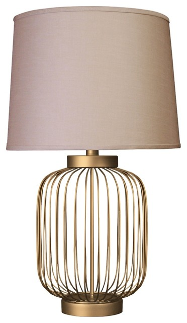 dull gold small wire cage accent table lamp contemporary table lamps. Black Bedroom Furniture Sets. Home Design Ideas