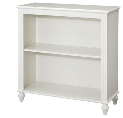 cottage two shelf bookcase white contemporary. Black Bedroom Furniture Sets. Home Design Ideas