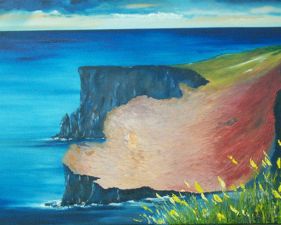 Ireland sculptured in Oil - If you would like a Print of this or any ofmy works up to 40 x 30 Inches,  please visit my store ........................