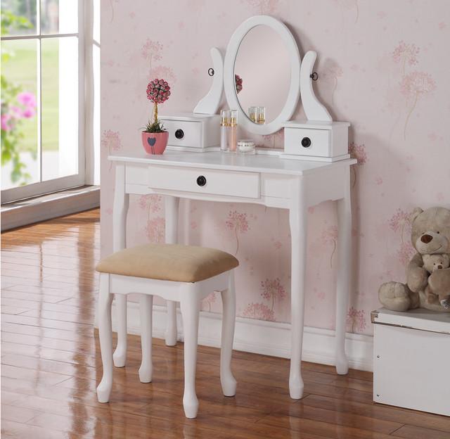 small white vanity set. White Vanity Table Traditional Furniture Orange  Dressing