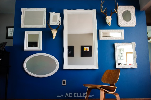 Mirror and Head Wall eclectic-living-room