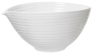 Sophie Conran White Pouring Bowl with Snip modern-serving-utensils