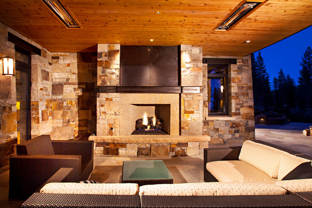 Martis Camp Estate Truckee transitional-living-room