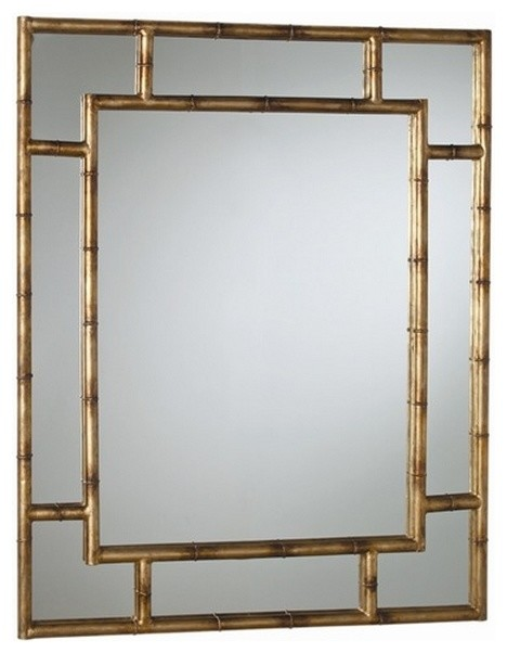 porter bamboo iron mirror asian wall mirrors by