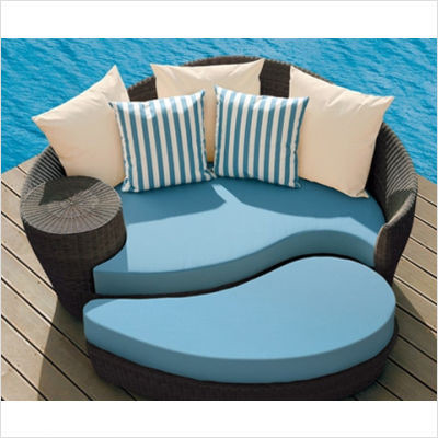 Barlow Tyrie - Dune Daybed and Ottoman contemporary outdoor sofas