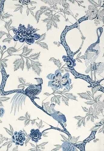 Arbre Chinois Fabric, Porcelain traditional-fabric