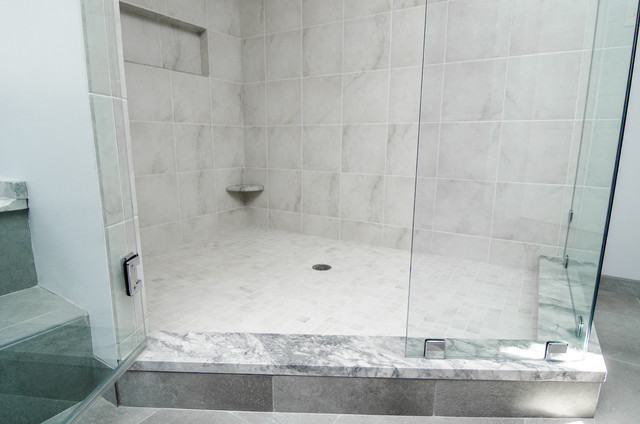Granite Shower Curb - Contemporary - Vanity Tops And Side Splashes - dc metro - by Granite Grannies