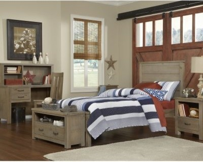 Highlands Harper Twin Panel Bed - Driftwood Home Products on Houzz