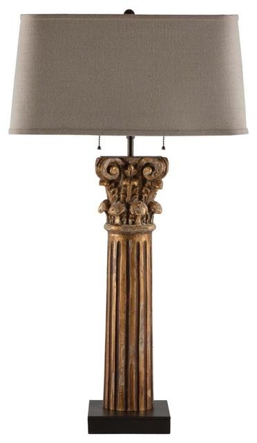 Aidan Gray Pillar of Strength Lamp traditional-table-lamps