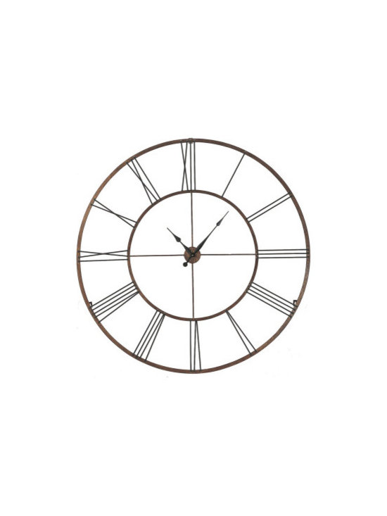 """Home Accessories - This stylish clock has rustic and modern qualities. Dramatic in size. 50"""" Dia."""