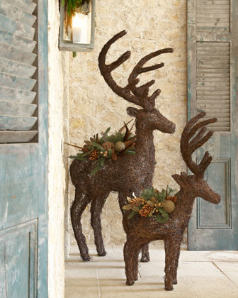 39 alpine 39 reindeer traditional prints and posters by for Outdoor reindeer decorations