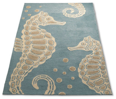 Sea Horse Outdoor Rug Traditional Doormats by
