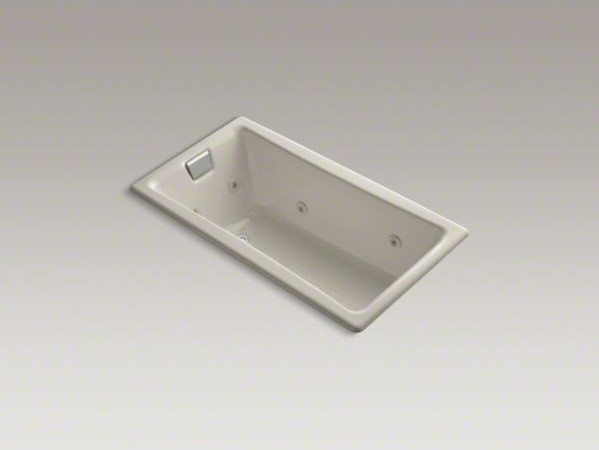 """KOHLER Tea-for-Two(R) 60"""" x 32"""" drop-in whirlpool with reversible drain, custom contemporary-bathtubs"""