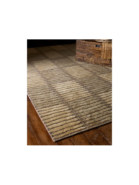 "Safavieh - ""Straw Blocks"" Rug - Two ancient weaves—one contemporary area rug. Two-tone ivory and sage square design in flatweave texture is handwoven in wool. Professional cleaning recommended. Imported. Sizes are approximate. We recommend using a rug pad with every indoor ru..."