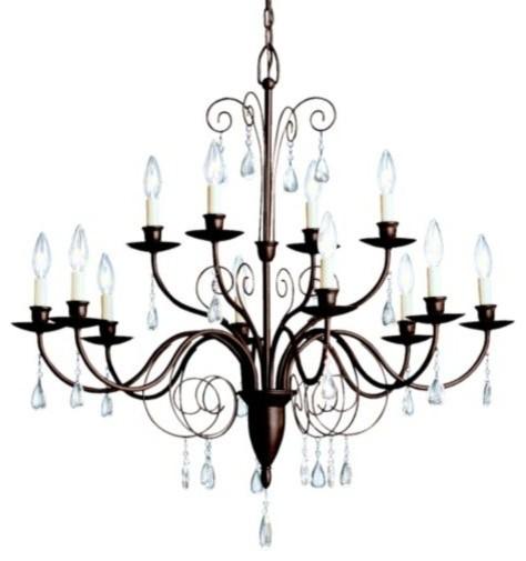 Barcelona 2-Tier Chandelier by Kichler traditional-chandeliers