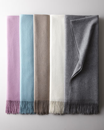 Woven Cashmere Throws traditional-throws