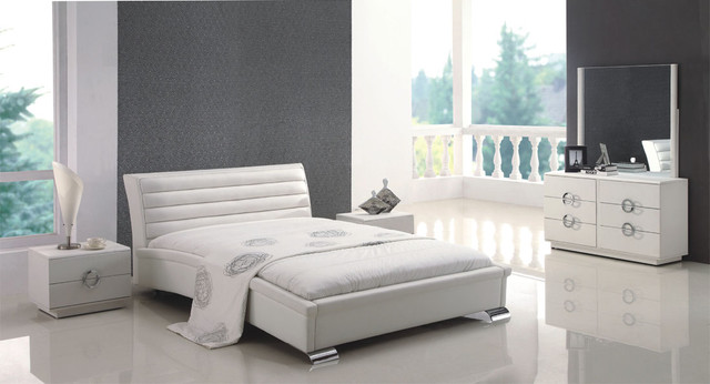 Stylish Leather Contemporary Bedroom Design contemporary-beds