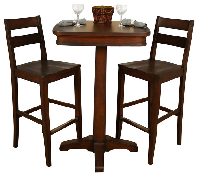 american heritage taylor 3 piece pub table set with tyler