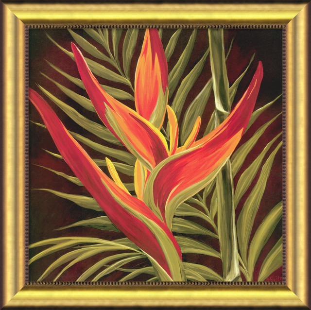 Birds of Paradise I Framed Canvas by Yvette St. Amant traditional-prints-and-posters